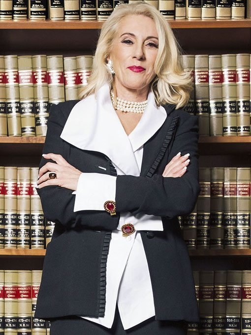 Chief Justice Amy Nechtem, practicing law with confidence and style.