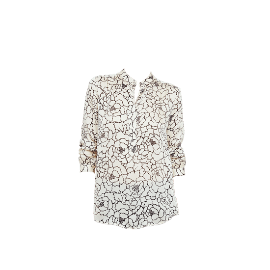 Club Monaco Print Silk Blouse