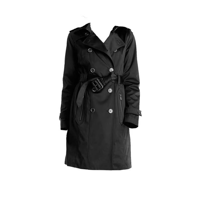 London Fog Chloe Double Breasted Satin Heritage Trench Coat