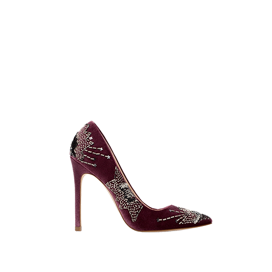 Zara Embroidered High Heel Shoes